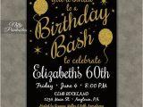 Printable 60th Birthday Invitations 60th Birthday Invitations Printable 60 Black Gold