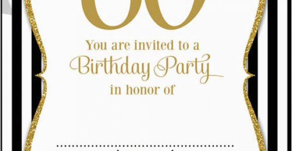 Printable 60th Birthday Invitations Free Printable 60th Birthday Invitation Templates Free