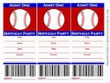 Printable Baseball Ticket Birthday Invitations 9 Best Images Of Free Baseball Printable Invitation