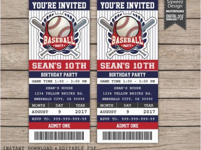 Download By SizeHandphone Tablet Desktop Original Size Back To Printable Baseball Ticket Birthday Invitations