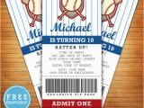 Printable Baseball Ticket Birthday Invitations Baseball Birthday Party Invitation Free Printable M Gulin