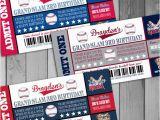 Printable Baseball Ticket Birthday Invitations Baseball Birthday Ticket Invitations Sports by Claceydesign