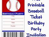 Printable Baseball Ticket Birthday Invitations Baseball Ticket Birthday Party Invitation About Family