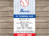 Printable Baseball Ticket Birthday Invitations Baseball Ticket Invitation Template Baseball Invitations