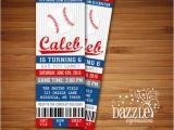 Printable Baseball Ticket Birthday Invitations Printable Baseball Birthday Invitation Sports Ticket