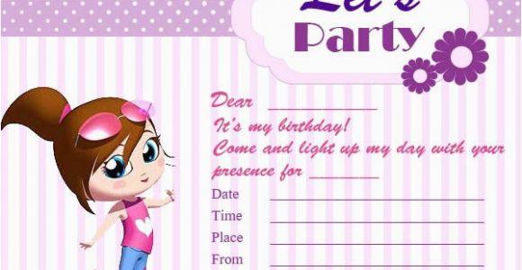Printable Birthday Card Invitations Printable Birthday Invitation Cards