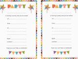 Printable Birthday Invitation Cards Blank Birthday Invitations for Boys Doyadoyasamos Com