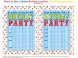 Printable Birthday Invite Bnute Productions Free Printable Dots 39 N Stripes Birthday