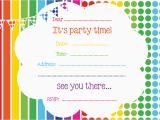 Printable Birthday Invite Free Printable Birthday Invitations Online Bagvania Free