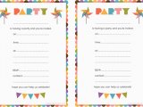 Printable Birthday Invite Printable Birthday Invitation Printable Birthday