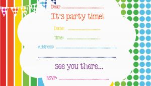 Printable Birthday Party Invitation Free Printable Birthday Invitations Online Bagvania Free