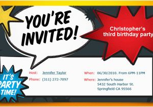 Printable Birthday Party Invitations For 12 Year Old Boy Kids Free Online