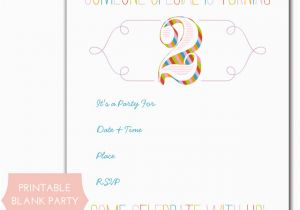 Printable Birthday Party Invitations For 12 Year Old Boy Rainbow Free