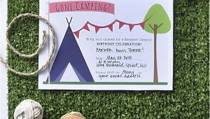 Printable Camp Out Birthday Invitations Download A Free Printable Camping Party Invitation Party
