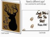 Printable Funny 70th Birthday Cards Printable Birthday Card Deer Hunting 40th 50th 60th