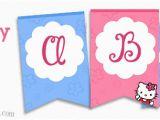 Printable Happy Birthday Banner Hello Kitty Hello Kitty Banner Letters Printable Treats Com