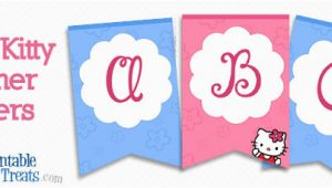 Printable Happy Birthday Banner Hello Kitty Hello Kitty Banner Letters Printable Treats Com