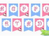Printable Happy Birthday Banner Hello Kitty Hello Kitty Birthday Party Printables Printable Treats Com