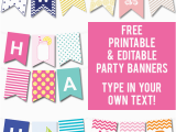 Printable Happy Birthday Banner Maker 50 Gorgeous Free Wall Art Printables Party Ideas