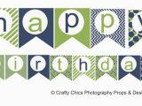 Printable Happy Birthday Banner Maker Diy Blue Green Happy Birthday Banner Printable