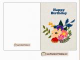 Printable Happy Birthday Cards Free Printable Woodland Birthday Cards