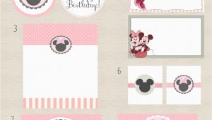 Printable Minnie Mouse Birthday Card Free Minnie Mouse Party Printables One Charming Day