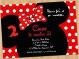 Printable Minnie Mouse Birthday Card Minnie Mouse Invitation Printable Birthday Party Custom