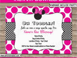 Printable Minnie Mouse Birthday Card Minnie Mouse Party Invitations Template Birthday Party
