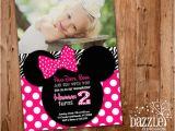 Printable Minnie Mouse Birthday Card Printable Minnie Mouse Birthday Invitation Girls First