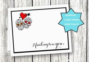 Printable Naughty Birthday Cards Card For Him Her Funny Anniversary Sugar