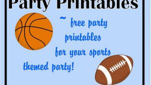 Printable Sports Birthday Cards 6 Best Images Of Sports Party Printables Free Printable