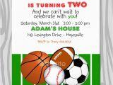 Printable Sports Birthday Cards All Star Birthday Party Invitation Sports theme