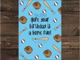 Printable Sports Birthday Cards Printable Baseball Birthday Card Homerun Birthday Baseball