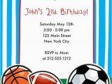 Printable Sports Birthday Cards Sports themed Birthday Party Invitations Dolanpedia