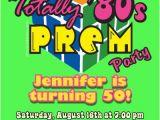Prom themed Birthday Invitations 80s Prom Birthday Invitations