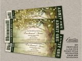 Prom themed Birthday Invitations Enchanted forest Prom Invitation with String Lights