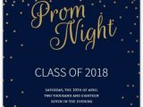 Prom themed Birthday Invitations Golden Confetti Stars Prom Invitation Prom 2018 A Night