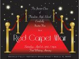 Prom themed Birthday Invitations Red Carpet Prom Invitations