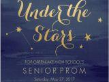 Prom themed Birthday Invitations Watercolor Constellation Prom Invitation Inspiracion