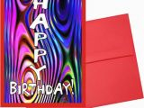 Psychedelic Birthday Card Custom Card Psychedelic Happy Birthday Card I by