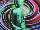 Psychedelic Birthday Card Funny Buddha Belated Birthday Card is Crafted In