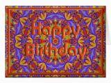 Psychedelic Birthday Card Psychedelic Birthday Card Template Zazzle