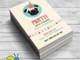 Pug Birthday Invitations Pug Birthday Party Invitations Puppy Party by
