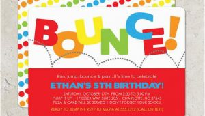 Pump It Up Birthday Invitations Bounce House Birthday Party Invitation Pump It Up Party