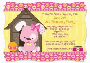 Puppy Birthday Invites Dog themed Birthday Party Invitations Dolanpedia