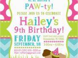 Puppy Birthday Invites Party Invitation Templates Dog Party Invitations