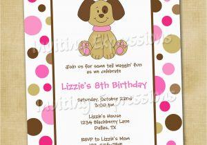 Puppy Birthday Invites Puppy Birthday Invitation Cimvitation