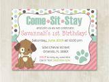 Puppy Birthday Invites Puppy Birthday Invitation Customizable Puppy Party