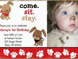 Puppy Birthday Invites Puppy Dog Birthday Invitation A Birthday Paw Ty
