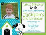 Puppy Birthday Invites Puppy Party Birthday Invitation Dalmation Diy Print Your Own